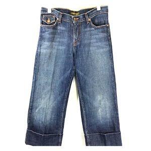 DAVID KAHN Jeanswear capris sz 6